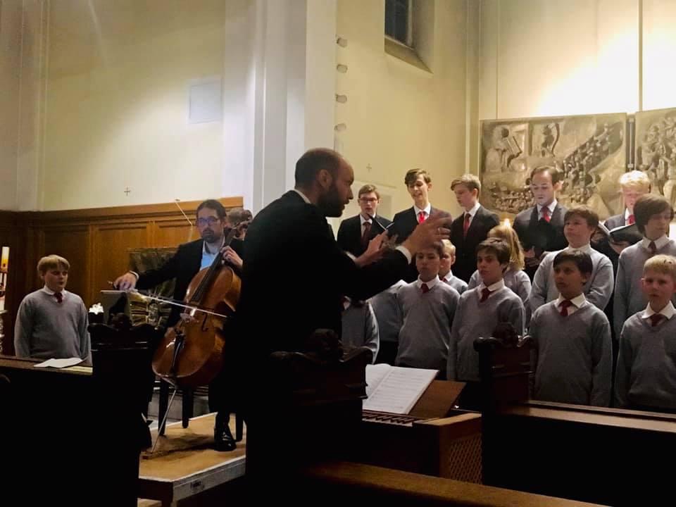 Cello and boys choir